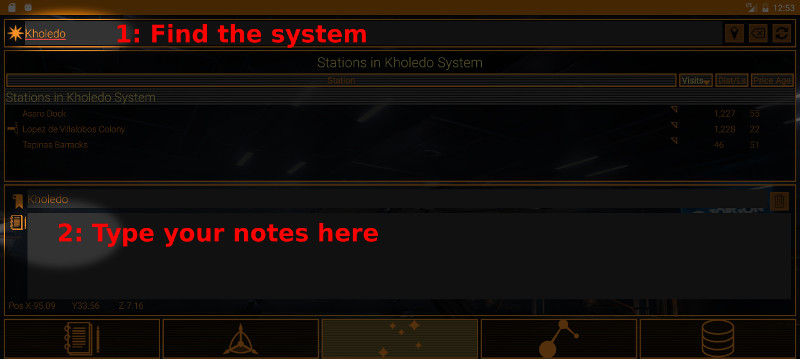 How to take notes on specific systems in EVA